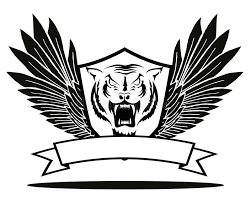 tiger badge with wings stock vector illustration of 59911992