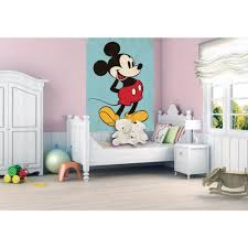 Wallpaper For Bedrooms Wall Disney Mickey Mouse Retro Wallpaper Mural 1 58m X 2 32m