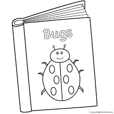 bugs book coloring page back to