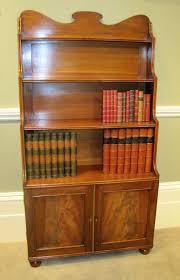 Mahogany Bookcases Uk Regency Mahogany Waterfall Bookcase Figured Panel Cupboard Door