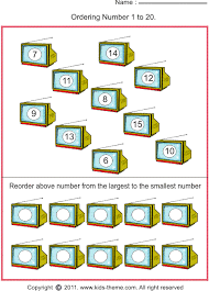 ordering numbers from the largest number