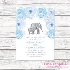Indian Baby Shower Invitation Cards Elephant Baby Shower Invitation Boy Elephant Invitation Little