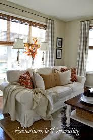 Grey Check Sofa Vintage Living Room With Grey Buffalo Check Curtains And Anji