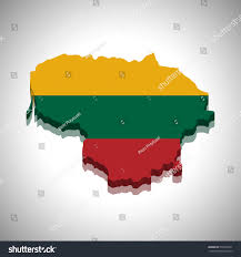 Flag Of Lithuania Picture Lithuania 3d Map Flag Stock Vector 372091891 Shutterstock