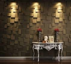 brown walls panels design ideas with simply wooden table human