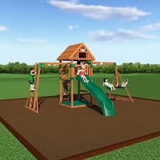 backyard discovery monticello cedar wooden swing set home
