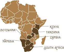 Zambia Africa Map by Itineraries Safari Spots