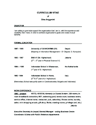 Examples For Resume by Good Objective For Resume Berathen Com