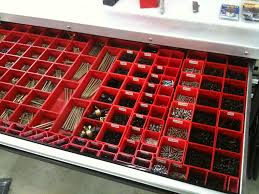 Plastic Tool Storage Containers - schaller corporation red plastic boxes organize your workspace