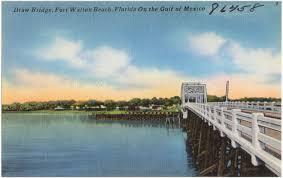 Fort Walton Beach Florida Map by Draw Bridge Fort Walton Beach Florida On The Gulf Of Mexico