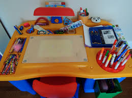Step Two Art Desk Childs Art Desk Home Improvement Craft Table With Storage For Art