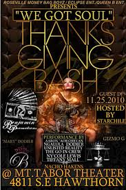 november 25 we got soul thanksgiving day bash and r b showcase