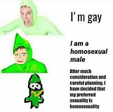 Meme L - i m gay increasingly verbose memes know your meme