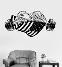 vinyl wall decal gym american eagle bodybuilding fitness sport vinyl wall decal gym american eagle bodybuilding fitness sport stickers ig3503