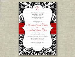 damask wedding invitations free black and white wedding invitation templates