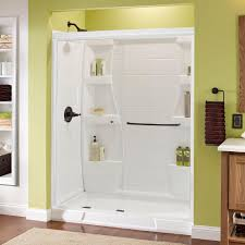 home depot glass shower doors delta simplicity 60 in x 70 in semi framed sliding shower door
