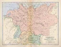 germania map johnston 1886 color map germania vindelicia rhaetia noricum