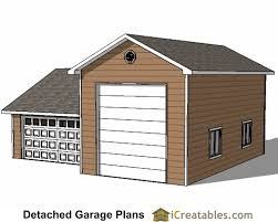 Detached Garage Plans by 34x38 Rv Garage Plans With 2 Car Garage