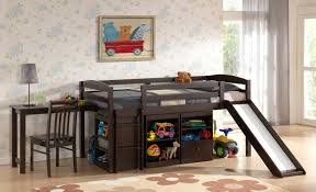 Childrens Bunk Bed With Slide Bedding Donco Loft Tent Bed With Slide White Bunk Beds
