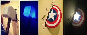captain america shield light target http www target com p 3d wall art thor hammer nightlight a