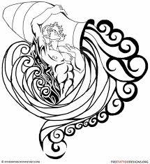 aquarius tattoo design inked man water vase just free image