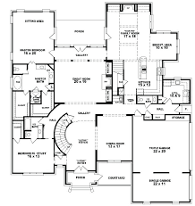 five bedroom floor plans five bedroom home plans floor plan house 5 ranch simple 4