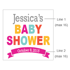 mod baby shower mod baby shower personalized square labels or tags 20 pieces
