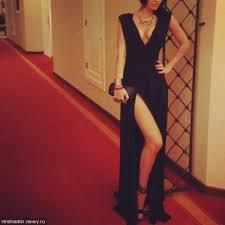 black slit dress on the hunt