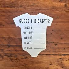 baby shower guessing baby shower prediction cards baby shower guessing cards baby