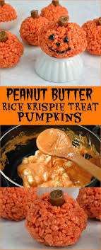rice crispy treat pumpkins peanut butter rice krispie treat pumpkin recipe is for any
