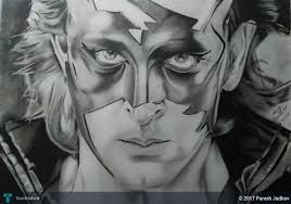 pencil sketch hrithik roshan touchtalent for everything creative