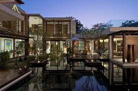 Homes With Courtyards by Timeless Contemporary House In India With Courtyard Zen Garden