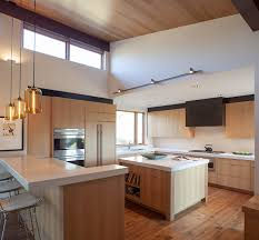 Modern Pendant Lights For Kitchen Island Kitchen Island Pendant Lighting Emits Golden Glow In Sun Valley