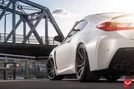 lexus rc f vs mustang gt tweaked lexus rc f in matte white and vossen vps 311 wheels