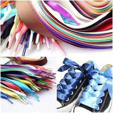 ribbon shoelaces online shop 1pair 80 120 160cm silk ribbon shoelaces men women