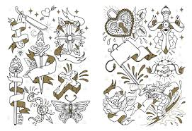 traditional tattoo flash coloring pages inspiring bridal shower