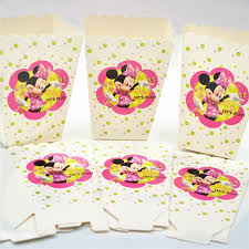 minnie mouse party supplies hot 6pcs popcorn box cup minnie mouse party supplies decoration