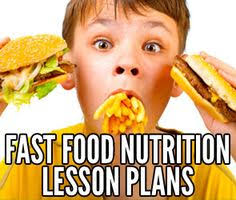 online high school health class fast food nutrition lesson plans for your students for