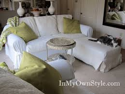 Lounge Chair Slipcover How To Cover A Chair Or Sofa With A Loose Fit Slipcover In My