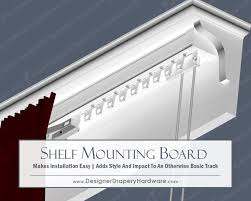 Designer Metals Decorative Traverse Rods by The Shelf Mounting Board Works Great With Ceiling Mount Heavy Duty