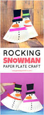 rocking paper plate snowman easy peasy and fun