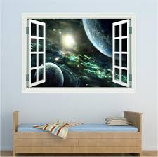 wall art red parrot signs company manchester space window planets wall art sticker decal