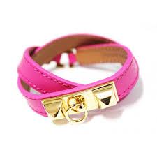 pink leather bracelet images Rivale gold pyramid pink leather cuff bracelet collier de chien jpg