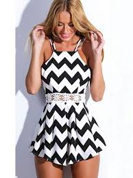 black and white jumpsuit for black and white wave pattern halter jumpsuits hollow waist