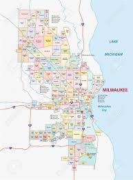 Wisconsin Usa Map Map Of Milwaukee Neighborhoods Milwaukee Neighborhood Map