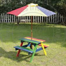 wooden picnic table ebay
