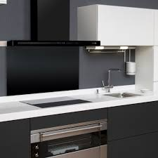 designer kitchen extractor fans 110cm linea slimline black