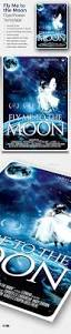 fly me to the moon movie poster template by lou606 graphicriver