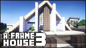 a frame house minecraft modern a frame house 3 youtube