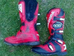 motocross boots size 8 motocross mx4 diadora red boots size posot class